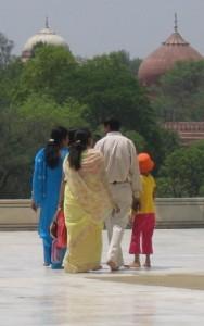 Taj Mahal, Agra, family