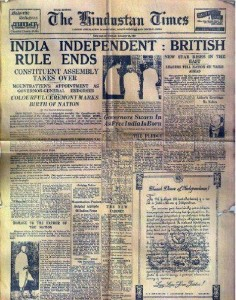 Indian newspaper, British Rule ends, Kerala