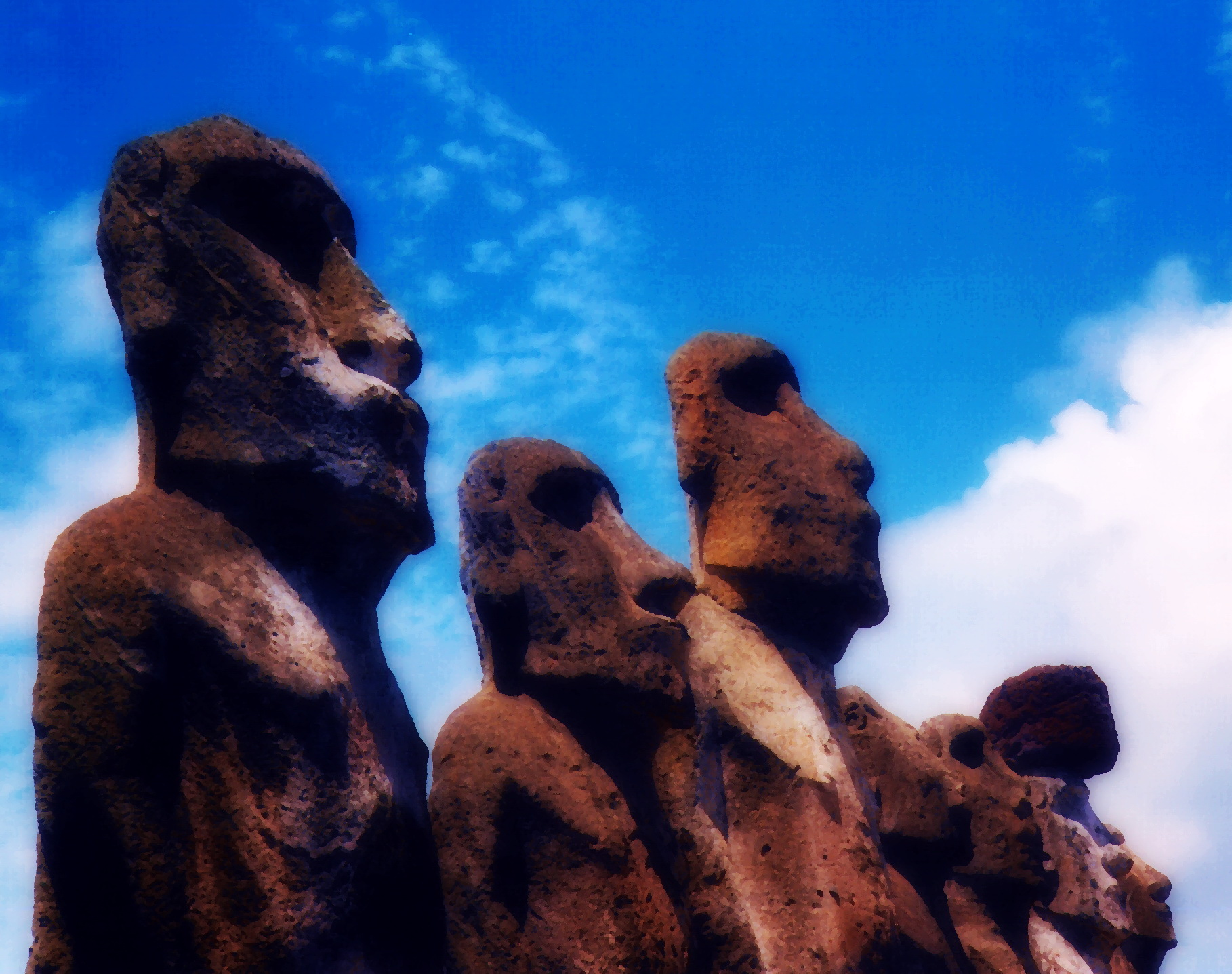Topknots and Talking Stones – the sinking of Easter Island (Chile)
