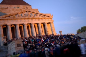 Dawn Service, Shrine of Remembrance - Melbourne (from Shrine website)