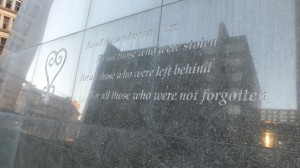 `For all those who were not forgotten' - Lower Manhattan