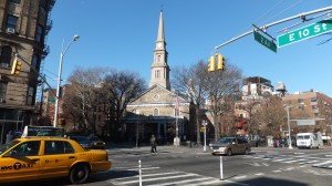 St Marks in `The Bowery' - the oldest thoroughfare on Manhattan Island