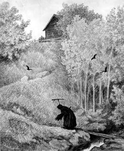 `The Plague is Coming' by Theodor Kittelsen (circa 1894)