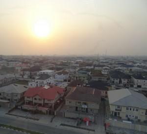 Lekki sunset, Sahara sand - Lagos, Nigeria